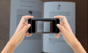 OmniPage Capture SDK unterstützt beim Fotografieren eines Dokuments mit einem Handy