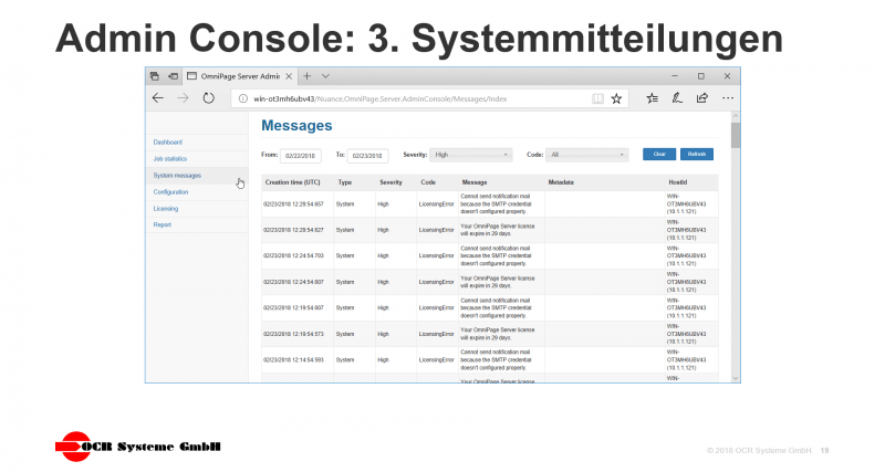 OmniPage Server Screenshot Admin 3